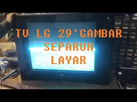 Tv Lg Pearl Black Gambar Hanya Separuh Youtube
