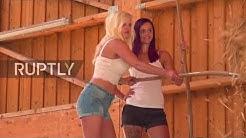 Bavarian girls pose for erotic calendar dedicated to 'farming heroes'