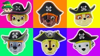 Paw Patrol become pirates. Rescue Pirate Pups. Transforming toys.