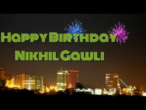 Happy birthday Nikhil Gawli Video (Om Sai Productions)