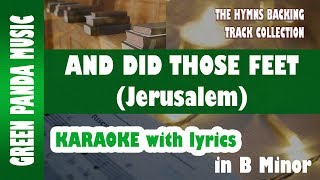 And Did Those Feet (Jerusalem) - Hymn Karaoke with lyrics - Hymns Backing Track Collection