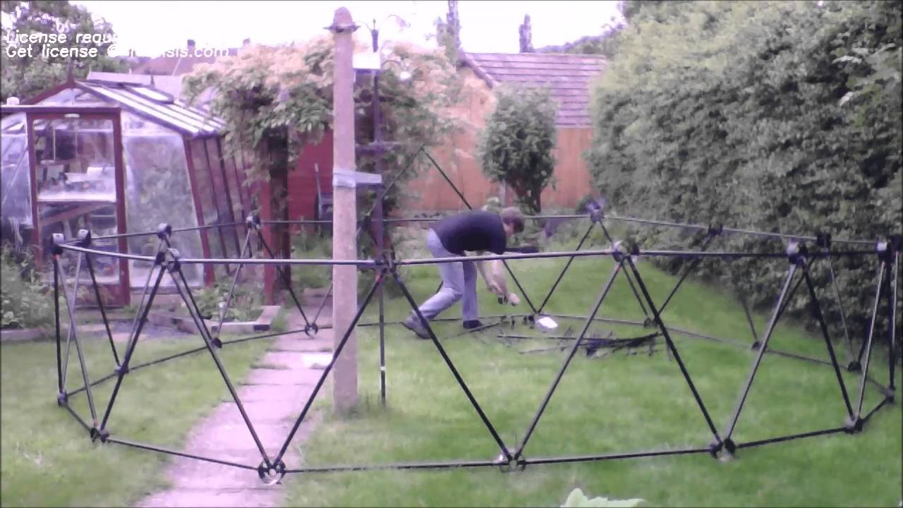 5 metre geodesic dome build timelapse youtube