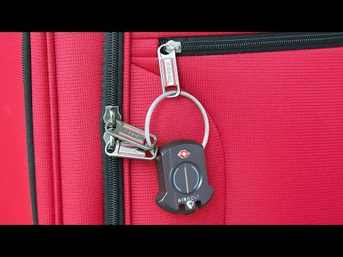 Lock your suitcase from your phone.