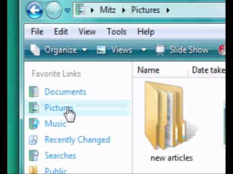 Find A Path To A File Or Folder In Windows Vista