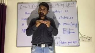 Emulsion /Emulsification /Emulsifying agent