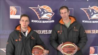 Tim Vogt und Daniel Lopez vor dem 3. Playoff-Achtelfinale