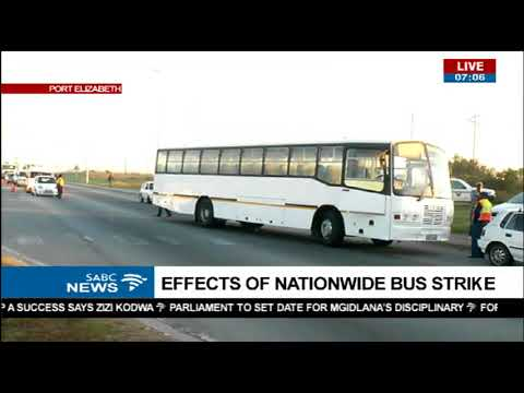 Latest update on bus strike - Port Elizabeth, Eastern Cape