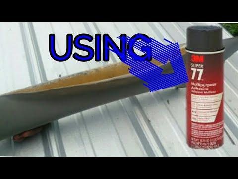 How to apply 3m 77 spray adhesive