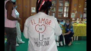 Tejiendo Sueños, entrega de donación en Hospital Universitario del Valle