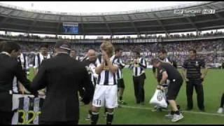 L'ultimo saluto di Pavel Nedved ai tifosi bianconeri allo stadio