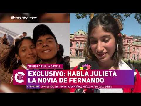 Habló Julieta, La Novia De Fernando A Una Semana Del Asesinato En Villa Gesell