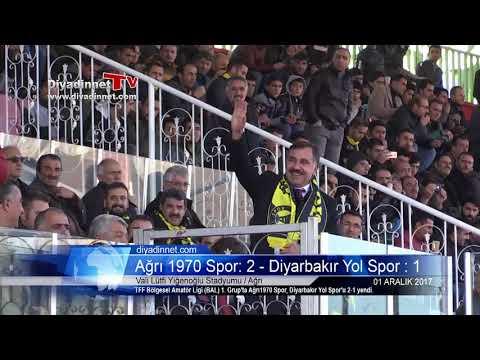 Ağrı 1970 Spor: 2 - Diyarbakır Yol Spor : 1