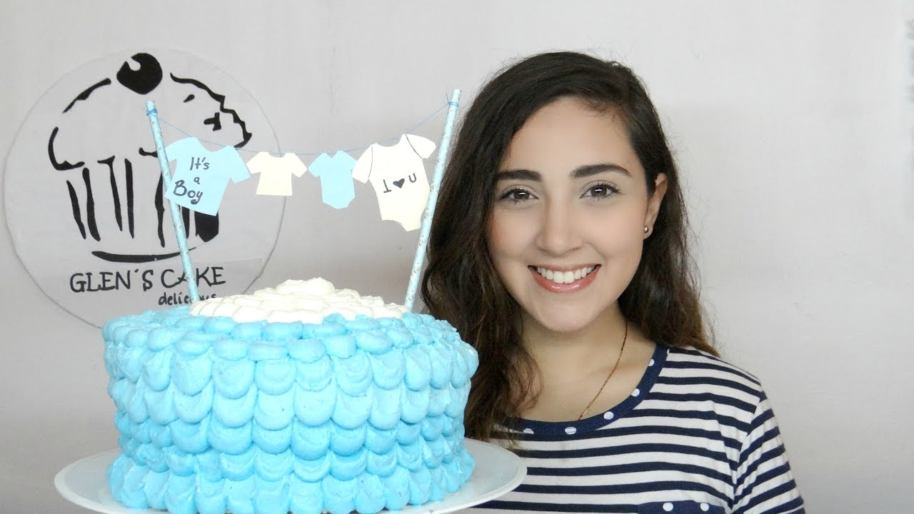 Como decorar un pastel de baby shower facil glenscake for Como decorar un bizcocho