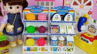 Baby doll mart and food toys play house story - ToyMong TV 토이몽