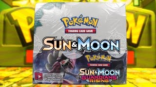 OPENING A POKEMON SUN & MOON GUARDIANS RISING BOOSTER BOX OF POKEMON CARDS!!!