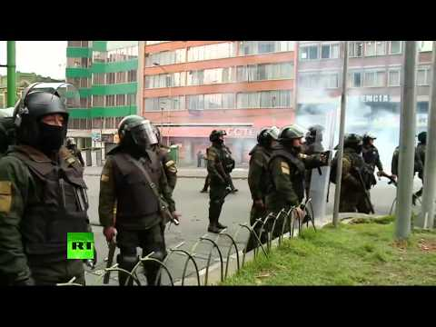 RT: Bolivia: Protesters demand resignation of new self-proclaimed president Jeanine Anez