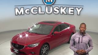 A10098CT Used 2015 Mazda6 i Grand Touring FWD 4D Sedan Red Test Drive, Review, For Sale -