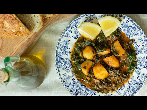 Greek Spinach & Potato Stew: Vegetarian Recipes for Lent
