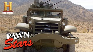 Pawn Stars: MIND-BLOWING $$$ for WWII Half-Track Used in Combat (Season 18) | History
