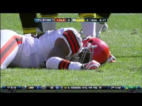 James Harrison hit on Josh Cribbs [HD]