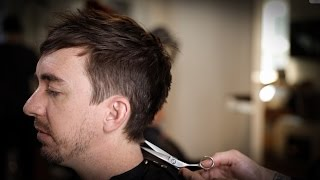 Mens Haircut for Fine Hair | Mens Haircut Tutorial | MATT BECK VLOG 101
