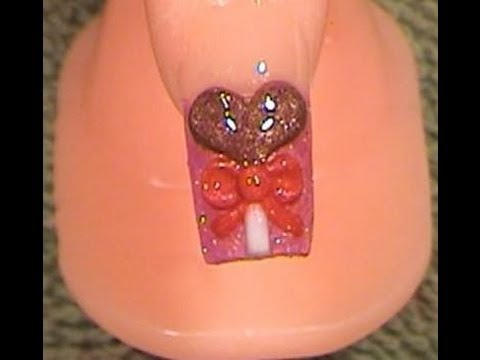 Acrylic Nails Tutorial Valentines Day Design 1