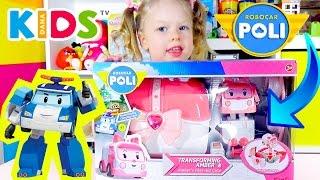 Робокар Поли Набор Эмбер Скорая Помощь Robocar Poli Amber Set Toy Unboxing Dana Kids TV