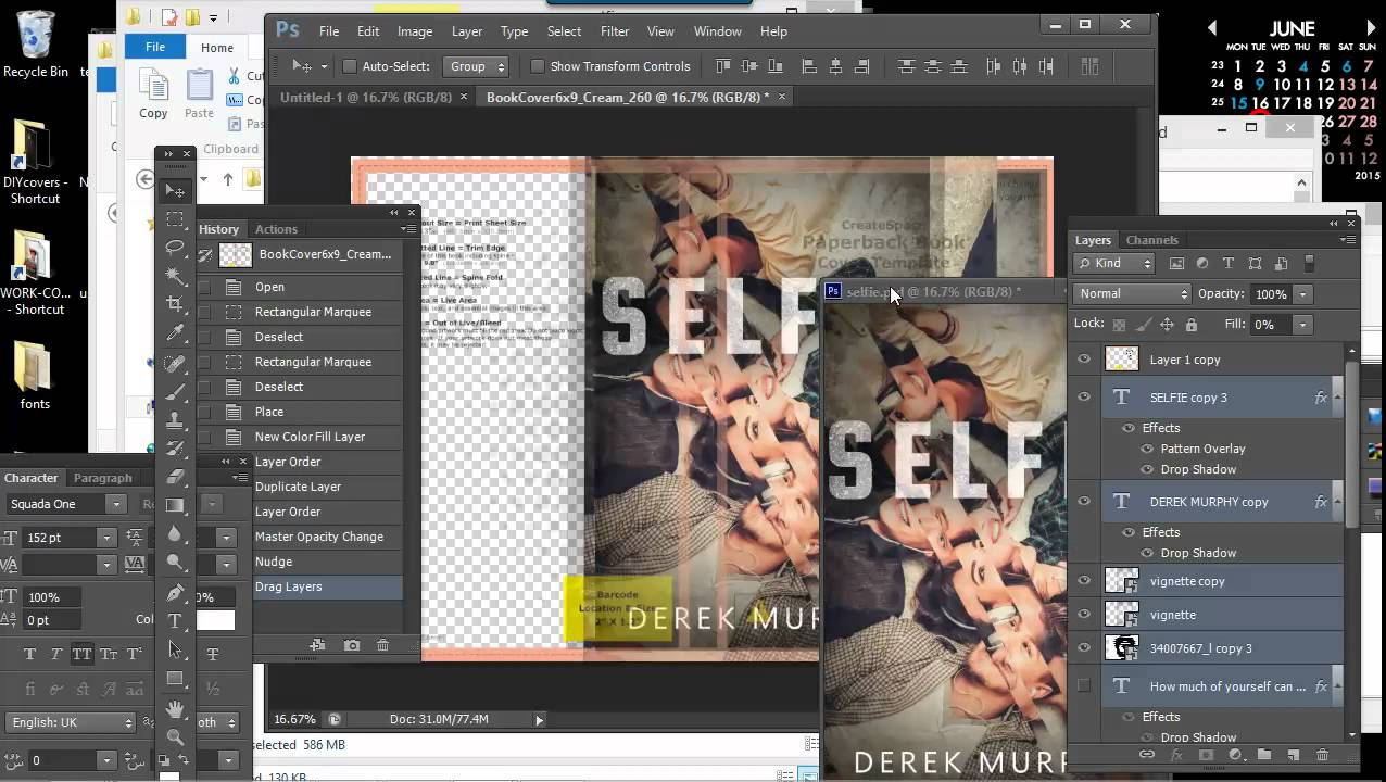 how to make a book cover for createspace in photoshop youtube