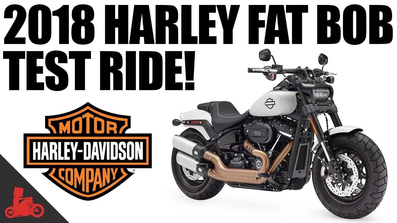 2018 harley davidson fat bob 114 test ride youtube. Black Bedroom Furniture Sets. Home Design Ideas