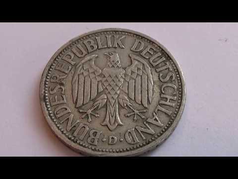 A 1950 Old Deutsche Mark Coin
