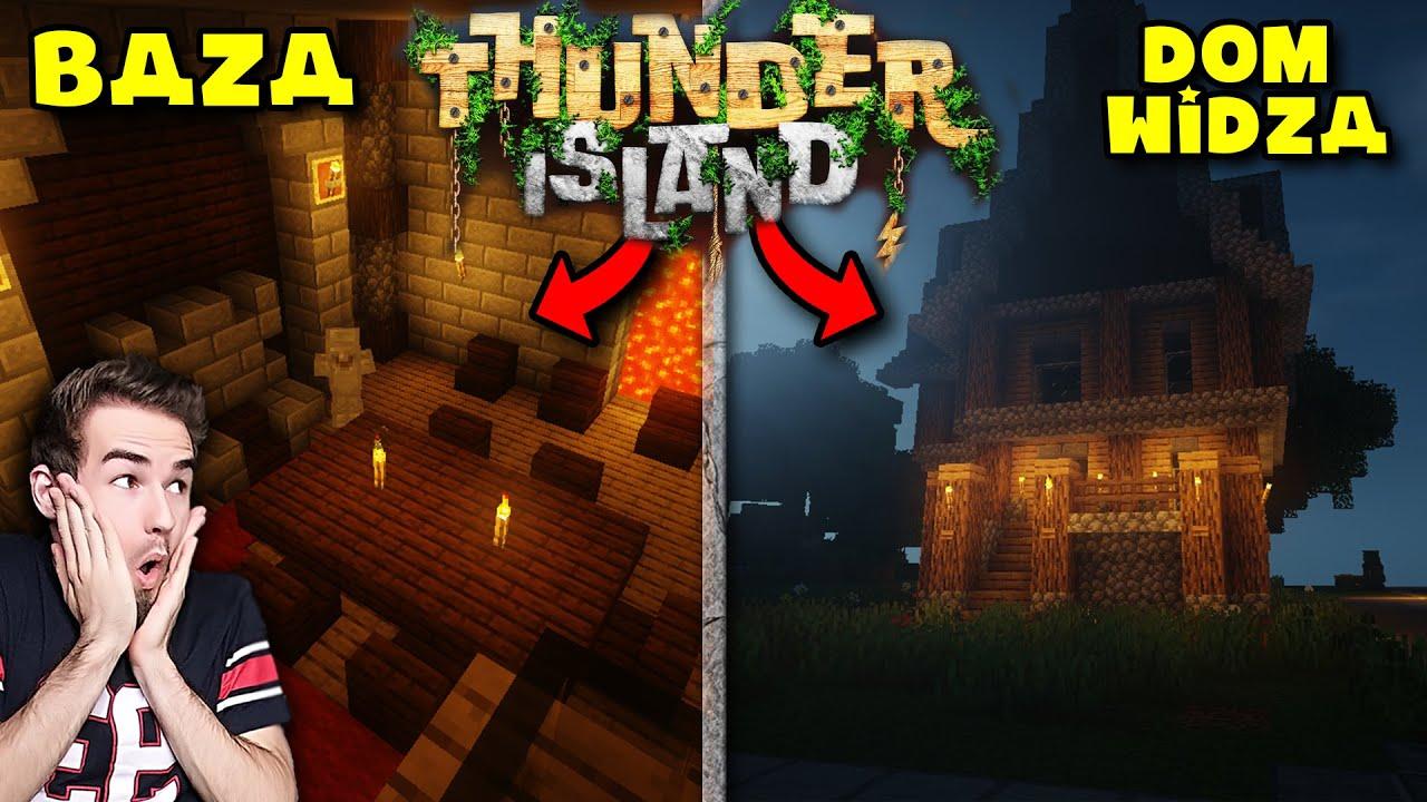 Ukryta BAZA i Domek WIDZA Minecraft Thunder Island #03