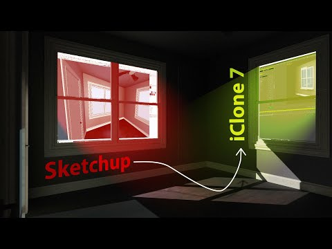 Sketchup Scene Into IClone 7