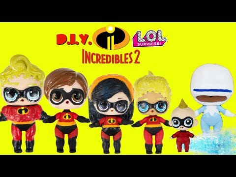 LOL Surprise The INCREDIBLES 2 DIY With Frozone Custom Makeover en streaming