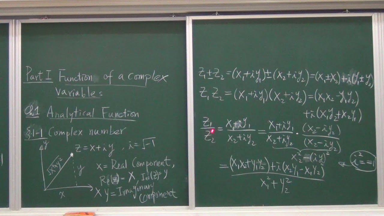 NCUOCW-工程數學IV-1.1.1 Complex Number - YouTube