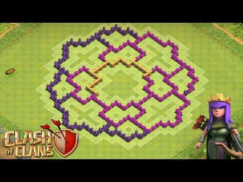 Clash of clans th8 farming base anti air giant healer doovi