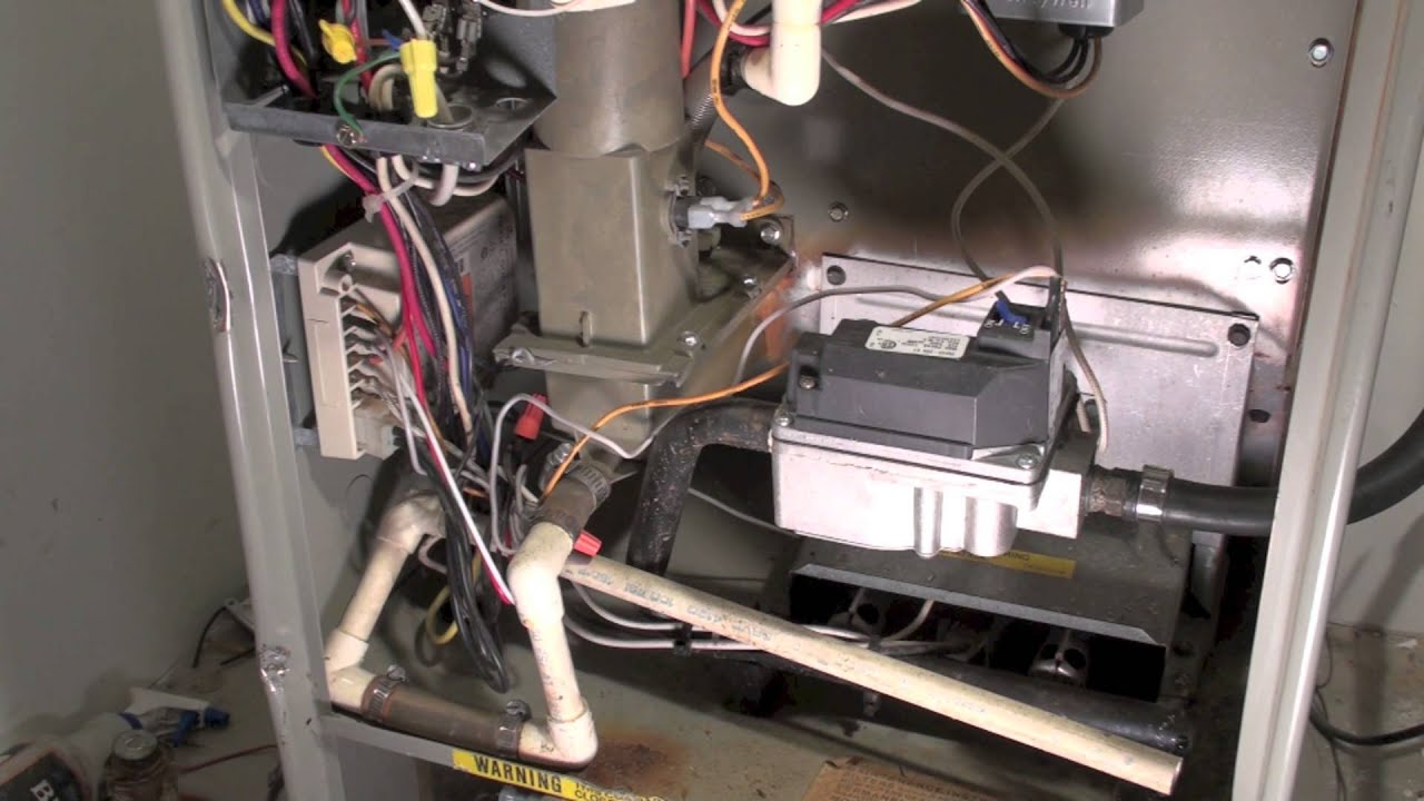 Ac Contactor Wiring Overview Of The Trane Blu Model Furnace Youtube