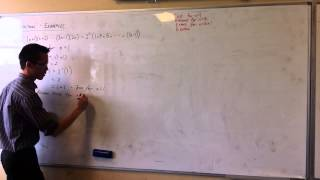 Induction: Series & Algebraic Identities (3 of 4)