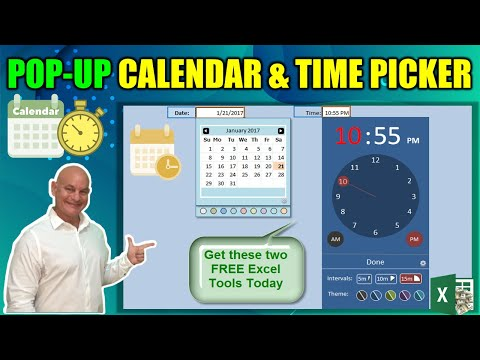Free Excel Pop-Up Calendar and Time Picker - YouTube