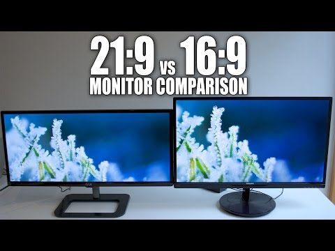 LG Ultrawide 29 21:9 vs Philips 27 16:9 1080p Display Comparison 29UB65-P