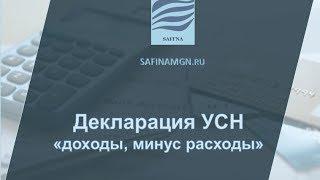 """Видео-инструкция заполнения налоговой декларации по УСН  """"доходы минус расходы"""""""