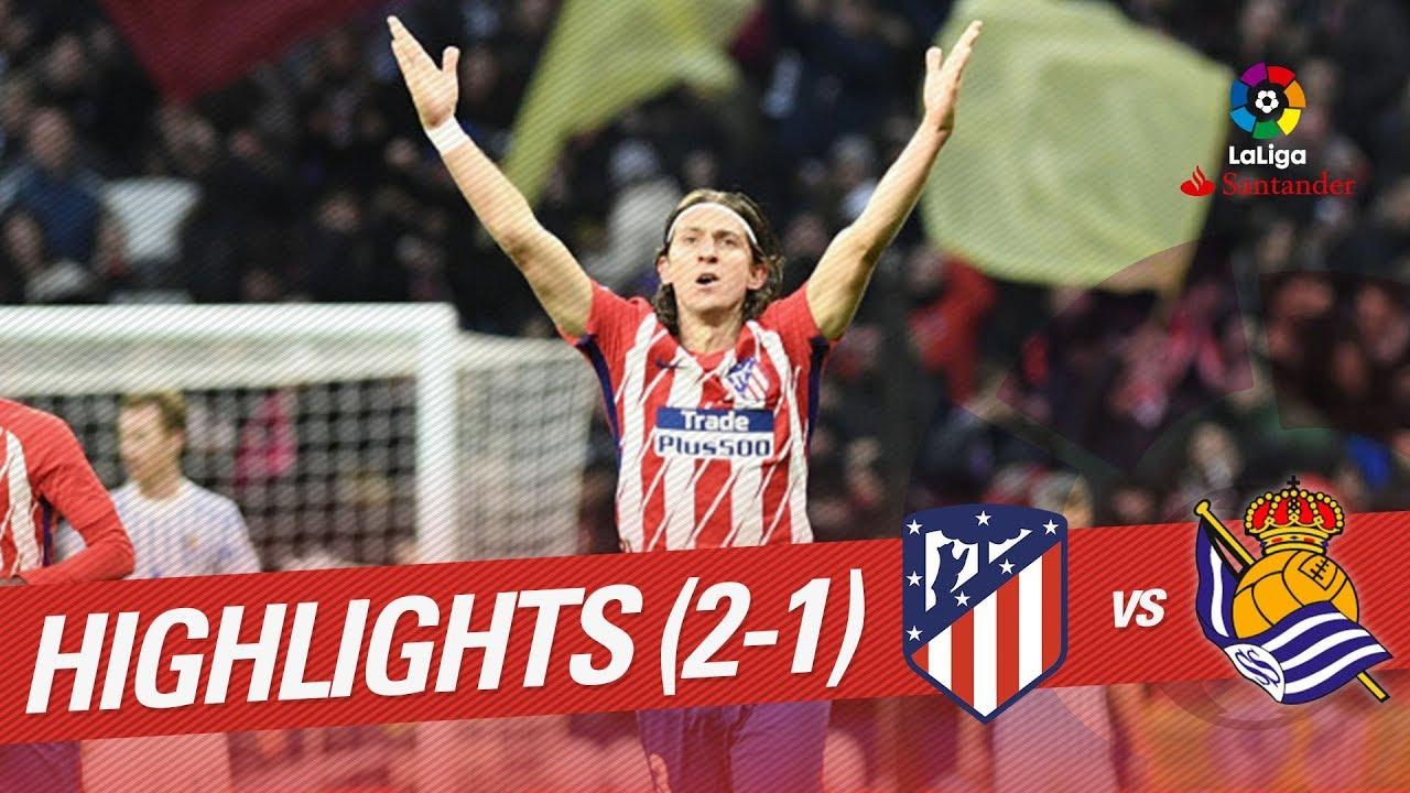 Атлетико - Реал Сосьедад 2:1 видео