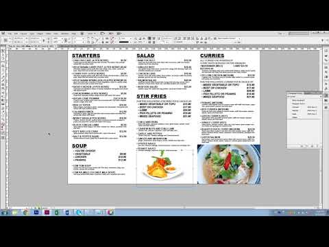 How To Design Takeaway Menu In 30 Mins Adobe Indesign