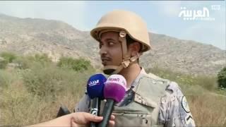 العربية ترافق فرق تمشيط الحدود السعودية - اليمنية