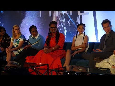 "Disney's ""Wrinkle In Time"" Press Conference w/ Chris Pine, Oprah Winfrey, Reese Whitherspoon & cast"