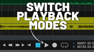 Switch Playback Modes in #StudioOne