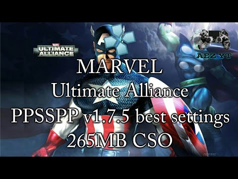 Download Marvel Unlimited Alliance 2 Psp Best Settings For Android