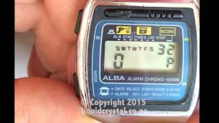 Alba game watch Y760-5000