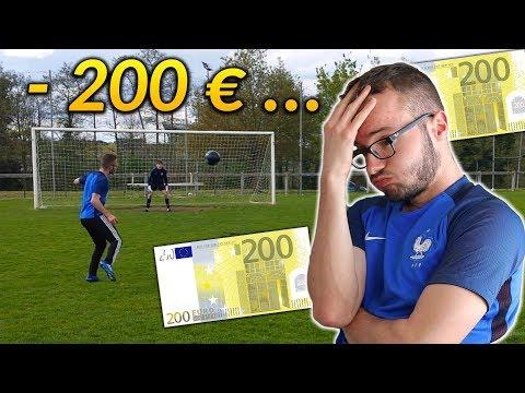 J'ai perdu 200 EUROS dans ce DÉFI FOOT...