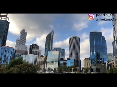 Perth, Western Australia CITY TOUR | SWAN RIVER | AMAZING WEATHER | Indian Students In Australia