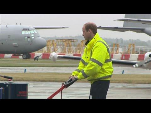 William starts new job as air ambulance pilot